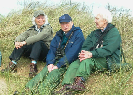 Geoff Wright with Margaret (l) and Cynthia (r) at Gibraltar Point, 2008