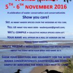 Wader Conservation World Watch 5th & 6th November