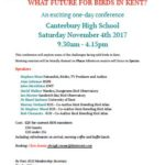 """KOS one-day conference """"What future for birds in Kent?"""""""