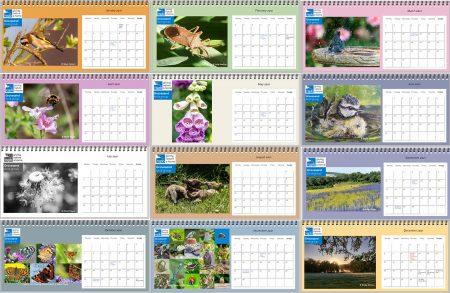 Desktop calendar cover page