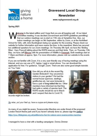 Spring Newsletter available and renewals reminder